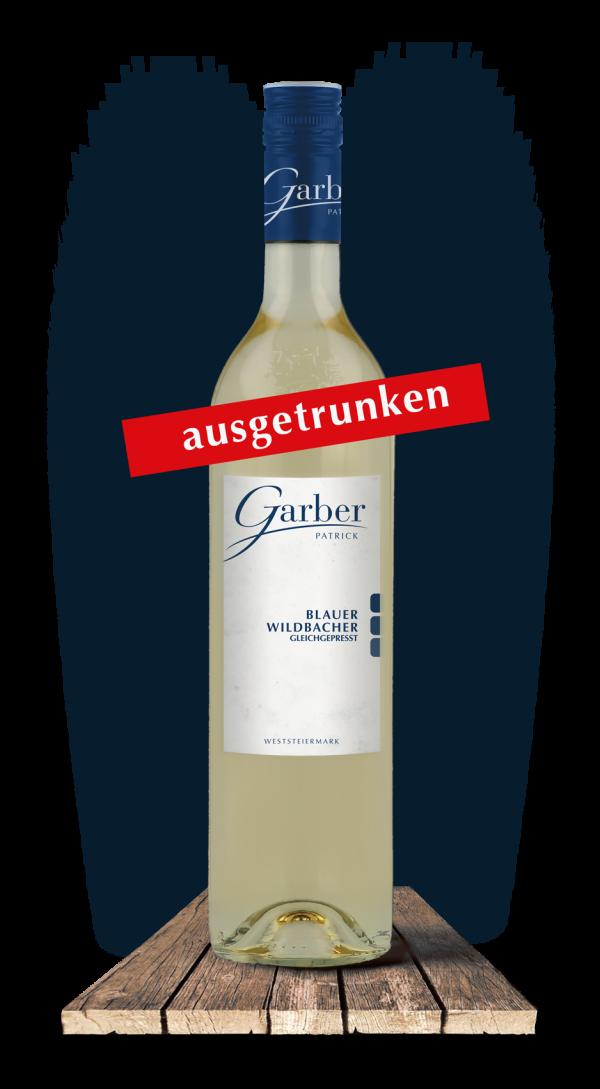 Blauer Wildbacher gleichgepresst ausgetrunken