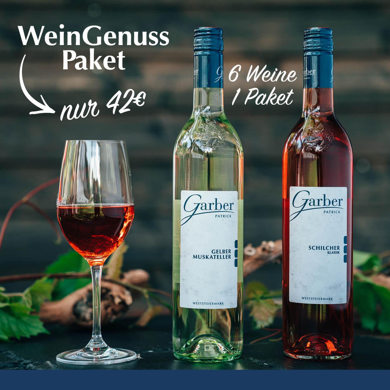 Wein Genuss Paket nur 42€, 6 Weine 1 Paket