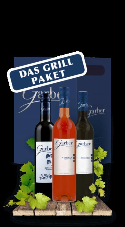 Wein Paket für die nächste Grillparty. Schilcher Klassik, Gelber Muskateller, Blauer Wildbacher, Schilcher Auslese, Schilcher halbtrocken