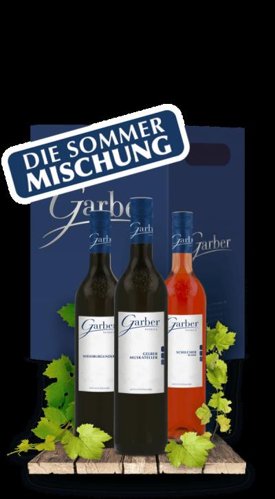 Wein Paket für den Sommer - Weissburgunder, Schilcher, Gelber Muskateller